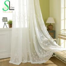 Embroidered Sheer Curtains Baby's Breath Floral Window Curtain Living Room Tulle Volie Rideaux Cortinas Para Sala De Luxo CL-94