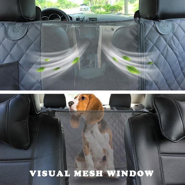 Prodigen Dog Car Seat Cover Waterproof Pet Transport Dog Carrier Car Backseat Protector Mat Car Hammock For Small Large Dogs 3