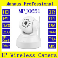 New 720P HD WIFI IP Camera Support 32G TF Card 24 Hours Loop Recording CCTV Camera