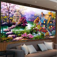 DIY 5D Diamond Mosaic Landscapes Garden Lodge Painting Cross Stitch Kits Diamonds Embroidery Home Decoration