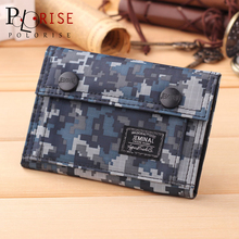 Men Wallets 2016 Fashion canvas Wear-resisting camouflage Hasp Money bag men Coin purse Zipper Business Card Holder Wallet B031