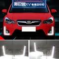 Hireno Car LED DRL Waterproof ABS 12V Daytime Running Lights for Subaru XV 2016-17 Fog lamp 2PCS