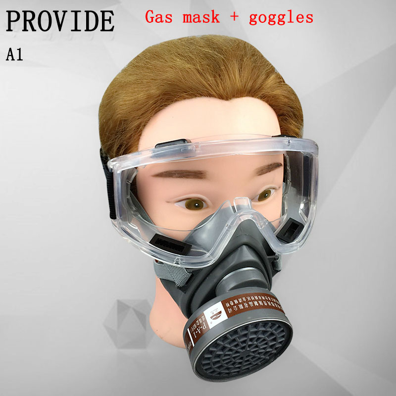 PROVIDE respirator mask + Goggles Brand protection gh quality protective mask against Painting pesticide spray gas mask high quality respirator gas mask brand practical type protective mask painting pesticide industrial safety chemical gas mask