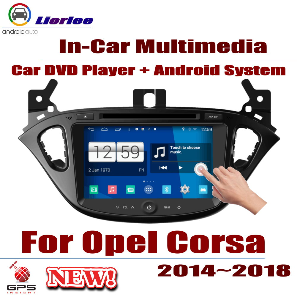 Auto DVD Player GPS Navigation For <font><b>Opel</b></font> <font><b>Corsa</b></font> E <font><b>2014</b></font>~2018 Car Android Multimedia System HD Screen <font><b>Radio</b></font> Stereo Head Unit image