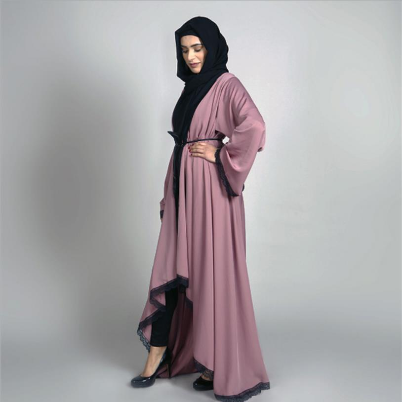 Muslim Adult Alace Robe Musulmane Turkish Dubai Fashion Big Swing Kimono Muslim Abaya Dress Arab Worship Service Abaya Wq1083