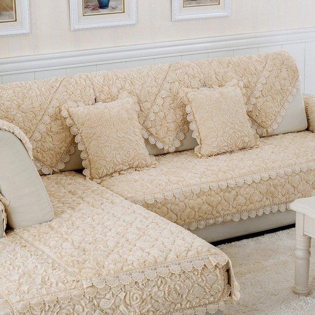 Popular Sale Elegant European Style Rose Seat Couch Cover Sofa Slipcover  Mat Slip Resistant Sofa Cover