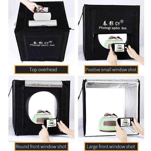 をサイプロ 32 80 × 80 × 80 センチ写真スタジオライトボックス LED ソフトボックス撮影ライトテントフォトボックスセットベビー衣料用 lichtbak