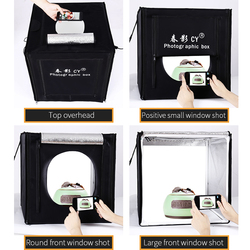 CY Professional 32 80x80x80cm Photo Studio light box LED soft box Shooting Light Tent photo box set for baby clothing lichtbak