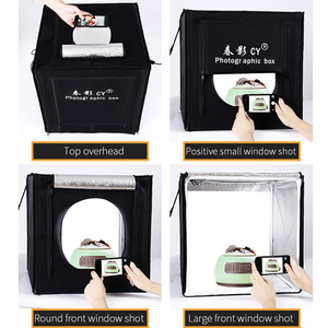 Image 1 - CY Professional 32 80x80x80cm Photo Studio light box LED soft box Shooting Light Tent photo box set for baby clothing lichtbak