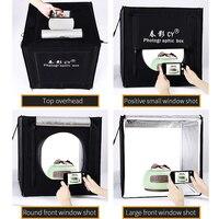 CY Profesyonel 32 '' 80x80x80 cm Fotoğraf Stüdyosu işıklı LED yumuşak kutu için Çekim Işık Çadırı fotoğraf kutusu set bebek giyim lichtbak
