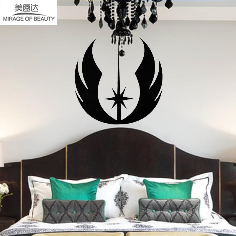 Анимированные Плёнки и телевидения работает Star Wars Jedi логотип автомобиля Стикеры для всех стены автомобиля стороны гладкая поверхность вин...