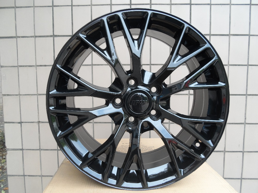 Gloss Black 19 20 inch 5x120 7 Staggered wheel rims W591