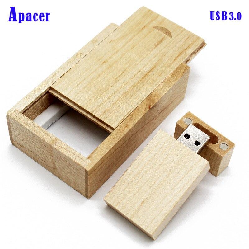 Apacer usb3.0 wooden LOGO usb flash drive 4gb 8gb 16gb Pendrive 32gb 64gb usb stick usb3.0