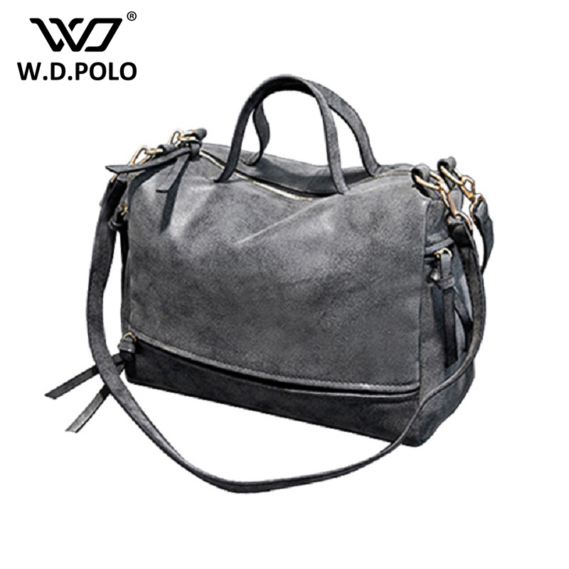 WDPOLO Women Shoulder Bag Nubuck Leather women handbag Vintage Messenger Bag high capacity women crossbody bags lady bags AA175 2016 new arrive women bag women shoulder bag nubuck leather vintage messenger bag motorcycle crossbody bags f40 657