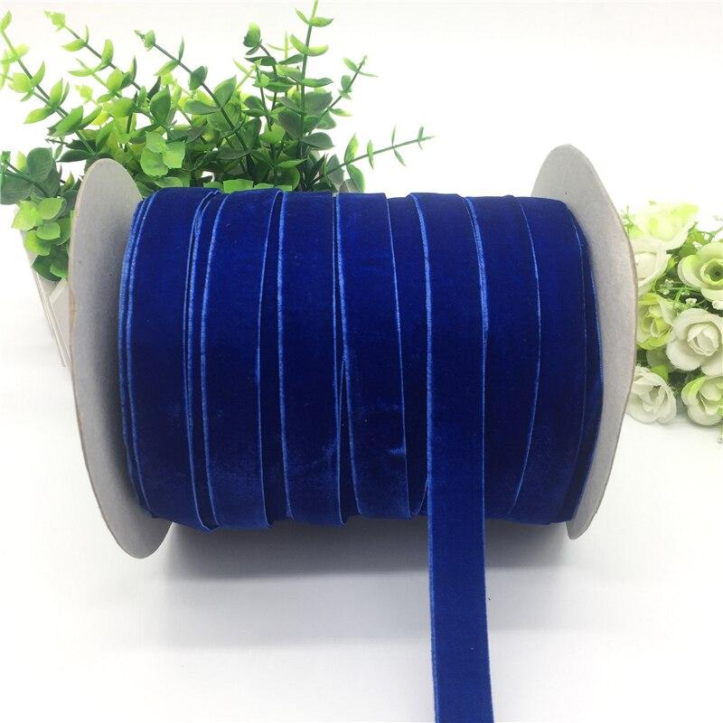 """5 ярдов 5/""""(15 мм) бархатная лента для украшения свадебной вечеринки лента ручной работы подарочная упаковка бантик для волос DIY Рождественская лента - Цвет: Blue"""