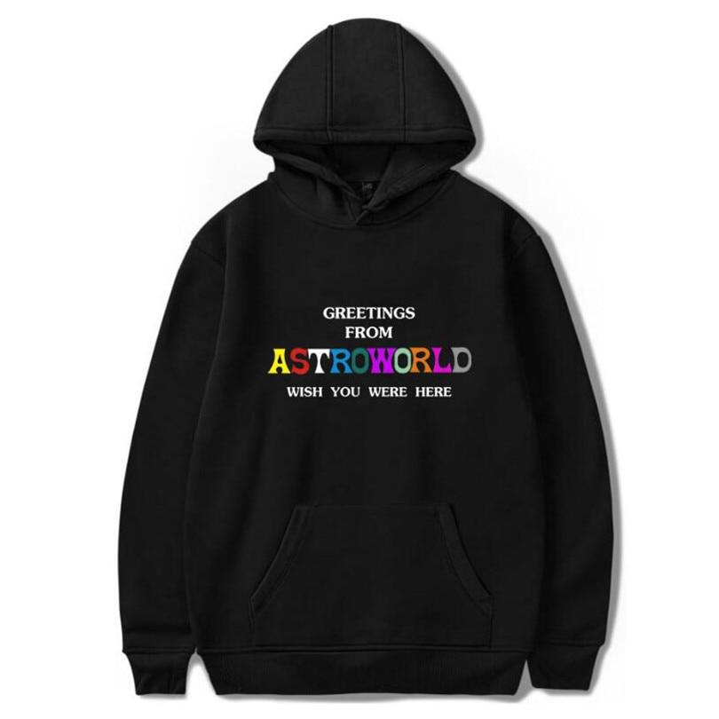 2018 Nuovo Maschio Hip Hop Felpa Con Cappuccio Harajuku Stampa Travis Scotts Astroworld Felpe Uomini/donne Vestiti Di Felpe Più Il Formato 4xl