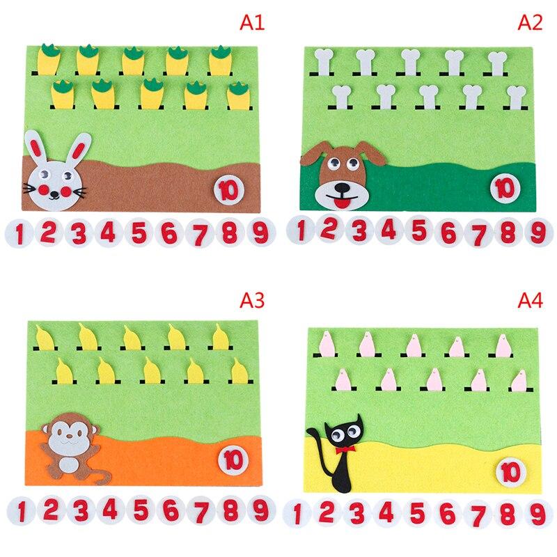 1pc Felt Cloth Children Educational Digital Cognitive Montessori Apple Tree Toys