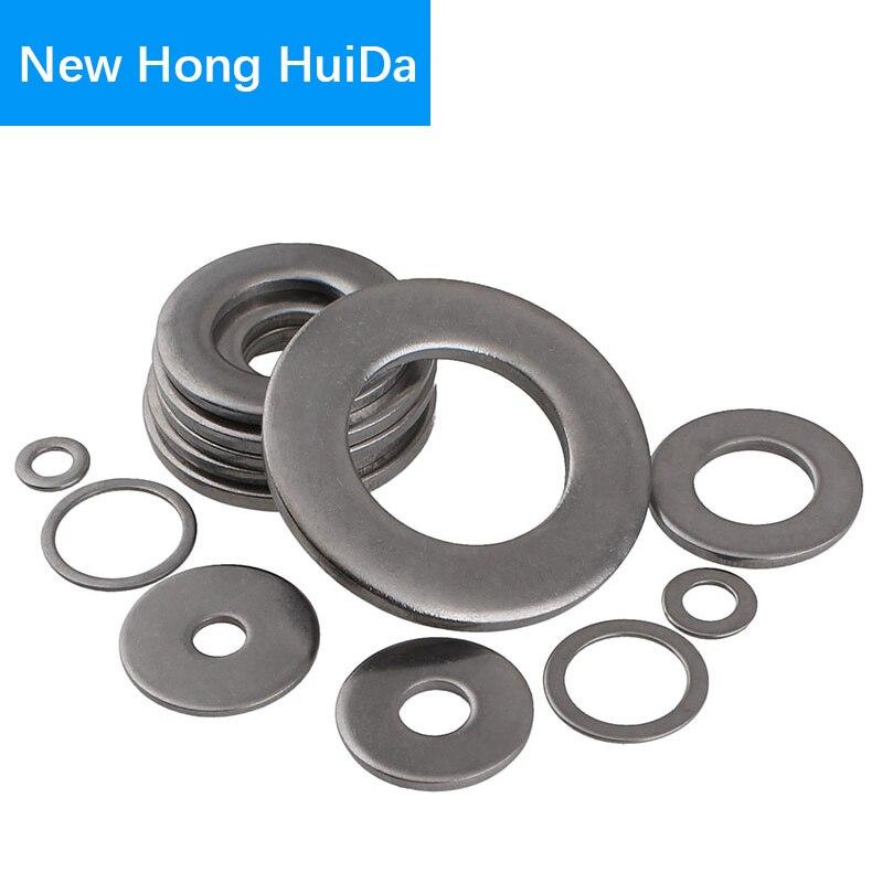 304Stainless Steel Flat Washer Metal Gasket Plain Washers (ID*OD*THK)M1.6 M2 M2.5 M3 M4 M5 M6 M8 M10 M12 M14 M16 M18 M20 M22 M24