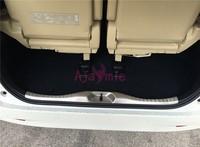 #304 Stainless Steel Rear Trunk Bumper Door Sill Car Styling For 2016 2017 2018 Toyota Vellfire Alphard 30 Accessories