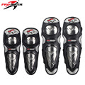 PRO-BIKER Motorcycle Riding Knee & Elbow Protector Pads Stainless Steel Shell Motocross Off-Road Racing Knee Protective Gear