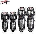 Pro-biker motorcycle riding rodilla y codo almohadillas protectoras de acero inoxidable shell motocross off-road racing rodilla equipo de protección