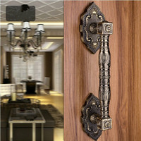 370MM High Quality Antique Zinc Alloy Wood Door Handles Europen Style Big Gate Door Pulls KTV