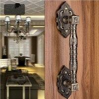 370mm de Haute Qualité en laiton antique porte en bois poignées bronze Porte porte tire, KTV Hôtel porte En Verre vintage en bois porte poignées
