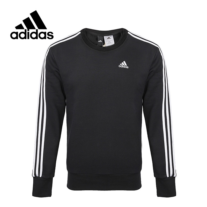 Adidas New Arrival Official ESS 3S CREW Men's Jacket Breathable Pullover Sportswear BQ9645 original new arrival official adidas trefoil crew men s breathable pullover comfortable sportswear good quality cv8643