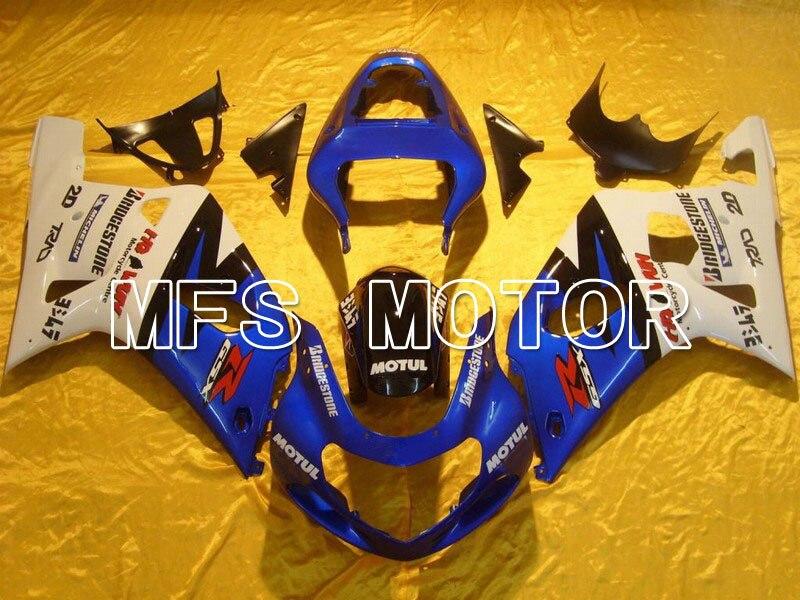 Инжекционный обтекатель антиблокировочной системы комплект подходит для Suzuki GSXR 600/750 2001 2002 2003 K1 сине белые