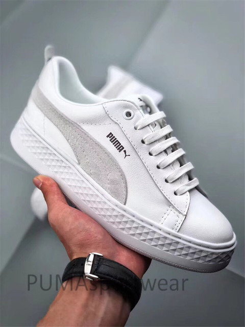 5fc10d6eaf1 2018 New Arrival Original PUMA Smash Platform SD Women s Shoes Breathable  Sneakers Badminton Shoes Size35-39
