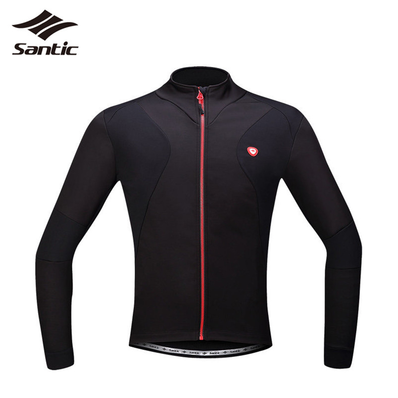 Santic Cycling Jacket Men Windproof Winter Thermal Fleece Bicycle Jacket Mountain Road Bike Jacket Wind Coat Chaqueta Ciclismo 2017 santic mens breathable cycling jerseys winter fleece thermal mtb road bike jacket windproof warm quick dry bicycle clothing