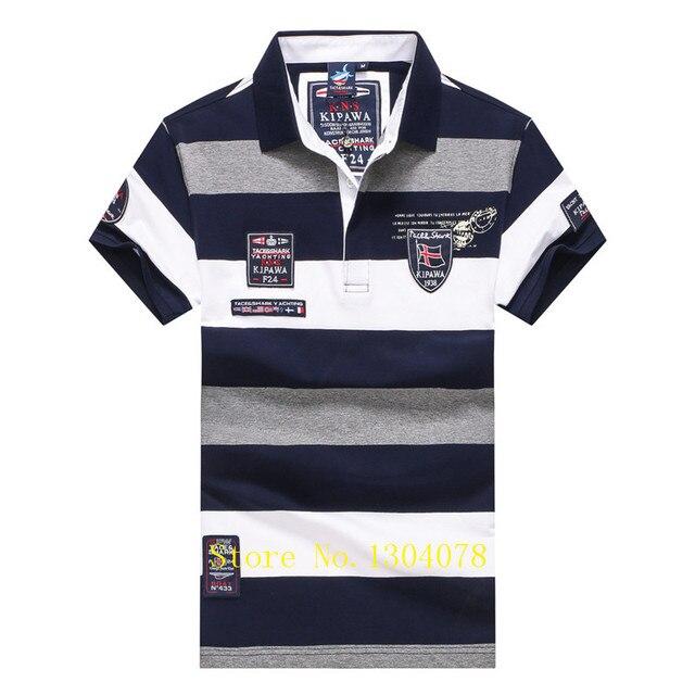 Men Clothes 2020 Famous Brand Tace & Shark polo shirt men Summer Tops Cotton Short Sleeve Striped Classic & Business homme 4