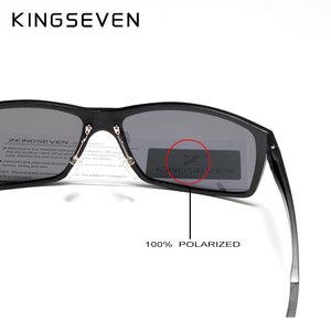 Image 5 - KINGSEVEN تصميم جديد الألومنيوم المغنيسيوم النظارات الشمسية الرجال الاستقطاب مربع القيادة نظارات شمسية الذكور نظارات اكسسوارات للرجال