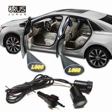 JURUS, 2 шт., светильник Ghost Shadow, добро пожаловать, лампа, лазерный проектор, Предупреждение ющий светильник для Renault Logan, логотип Alfa Romeo