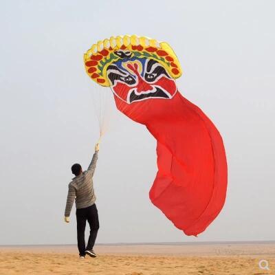 Livraison gratuite de haute qualité 20 m peking opera doux cerf-volant en plein air sports amusants 4.2x20 m grand cerf-volant traditionnel chinois parafoil wei