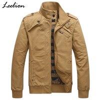 LeeLion 2018 NEW Military Jacket Men Autumn Spring Cotton Coat Fashion Solid Army Pilot Jackets Air Force Cargo Coat Slim Type