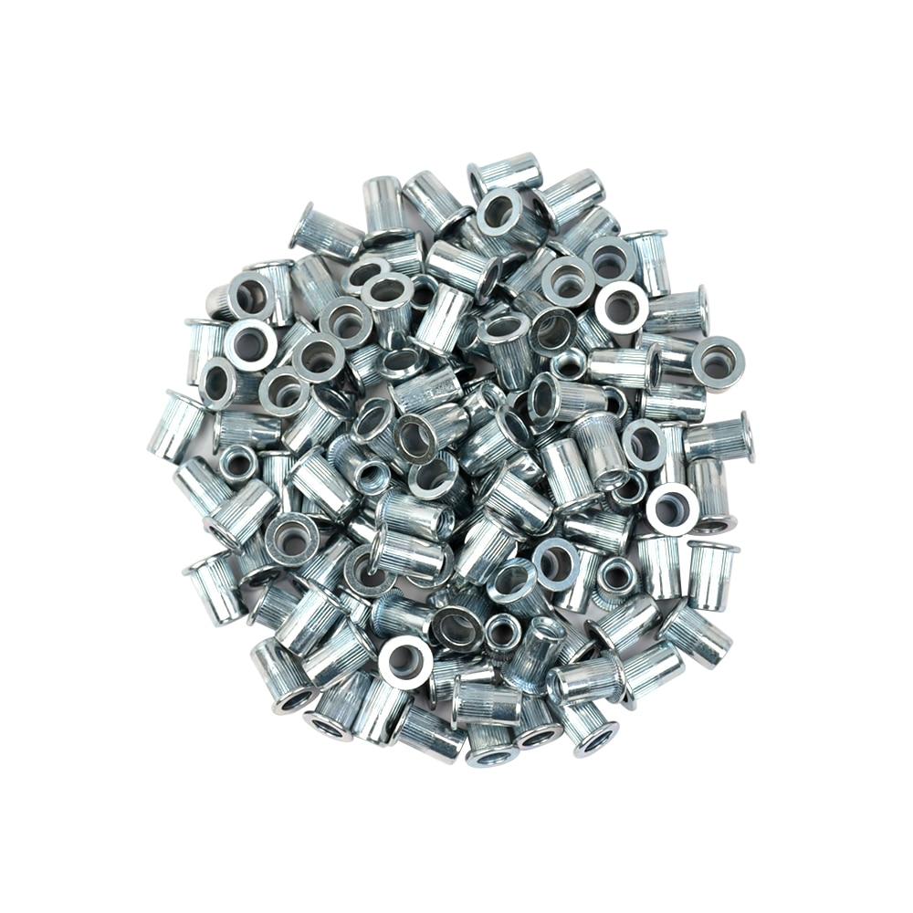 100 PCS rivet nut rivnut Plat colonne grain rivetage noix M3 M4 M5 M6 M8 moletage