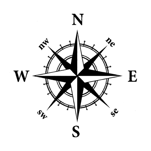 Car Brand Vector >> 14cm*14cm NSWE Originality Nautical Compass Vinyl Decal Motorcycle Car Sticker S6 3507-in Car ...