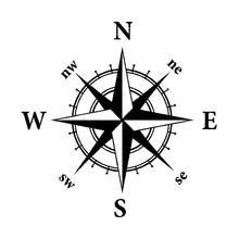 14cm*14cm NSWE Originality Nautical Compass Vinyl Decal Motorcycle Car Sticker S6-3507