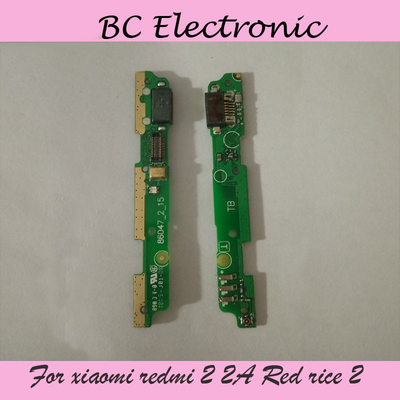 For xiaomi redmi 2 2A Red rice 2 hongmi 2 USB Dock Charging Port Board Replacement Parts free shipping;2PCS/LOT
