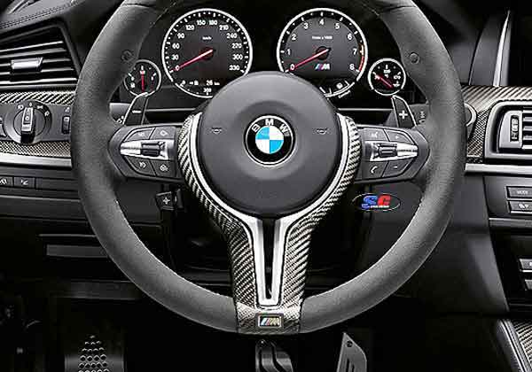 Real Carbon Fiber Steering Wheel Trim Cover For Bmw 3