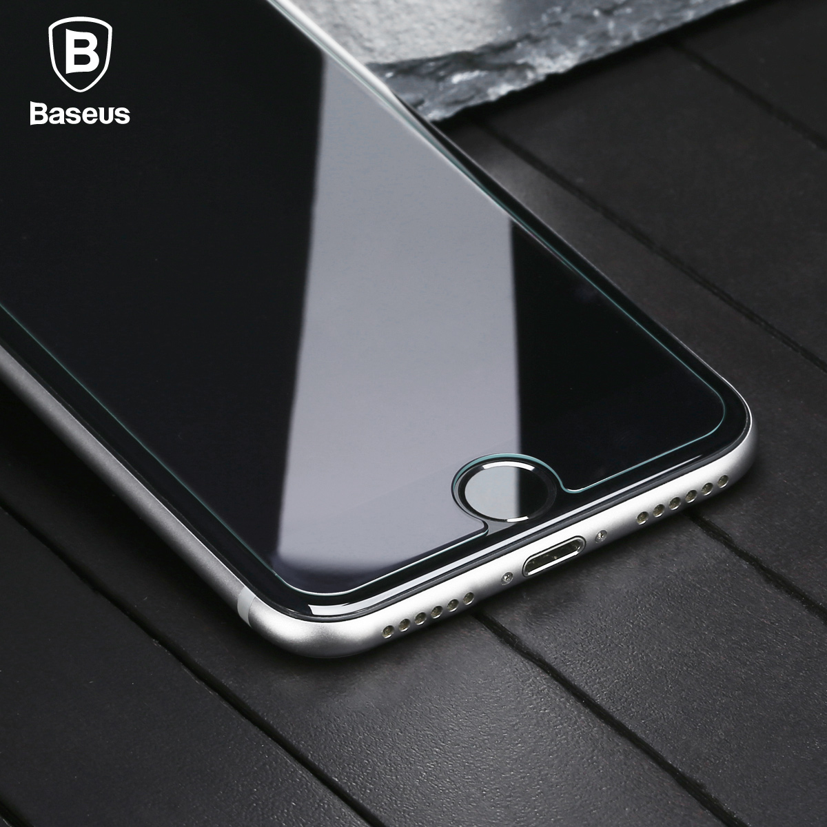 Galleria fotografica Baseus 9H Premium Screen Protector For iPhone 7 Plus Clear Light-thin Tempered Glass Film For iPhone 7 Front Cover Case Film