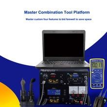 MEKANIK T10 4in1 SMD Rework Araçları Lehimleme Istasyonları Sıcak hava tabancası Güç Kaynağı Multimetre Anakart Cips Onarımı
