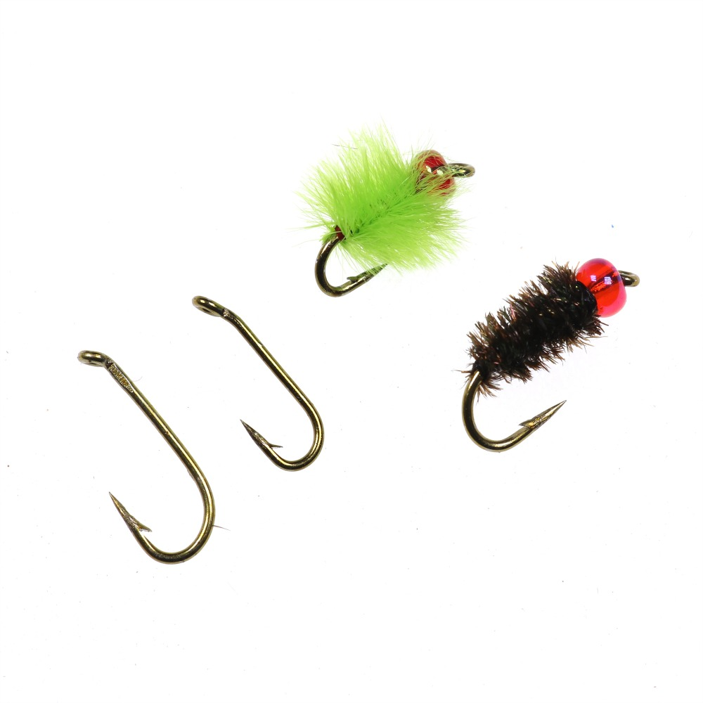 12Pcs Wet Dry Trout Flies Fly Fishing Bass Lure Hook Stream Vintage Tackle GS