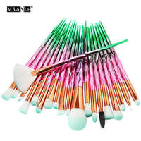 MAANGE 7-20Pcs Diamond Makeup Brushes Set Powder Foundation Blush Blending Eye shadow Lip Cosmetic Beauty Make Up Brush Tool Kit