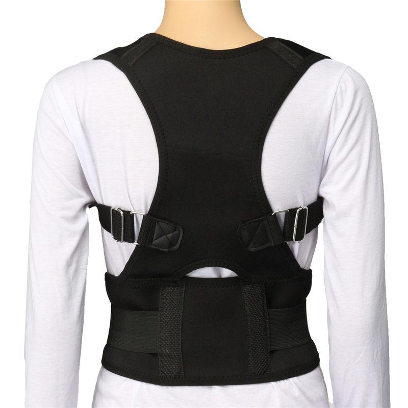 product Unisex Black S-XXL Adjustable Posture Back Shoulder Support Corrector Brace Bands For Men Women Back Straightener Belt