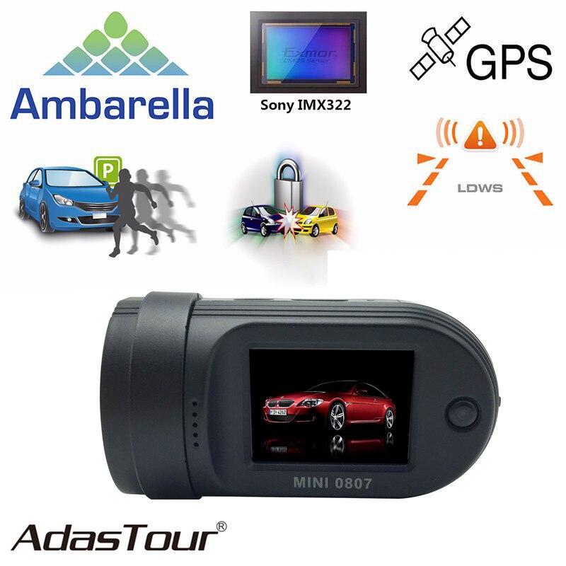 Mini 0807 Dash Camera Upgrade from 0805 DVR 1080P GPS Car DVR Dual TF Card Port Video Recorder with Amba A7LA50 Parking Monitor conkim mini 0807 ambarella a7 dash camera 1080p full hd video recorder registrar car dvr gps parking guard record dual tf card