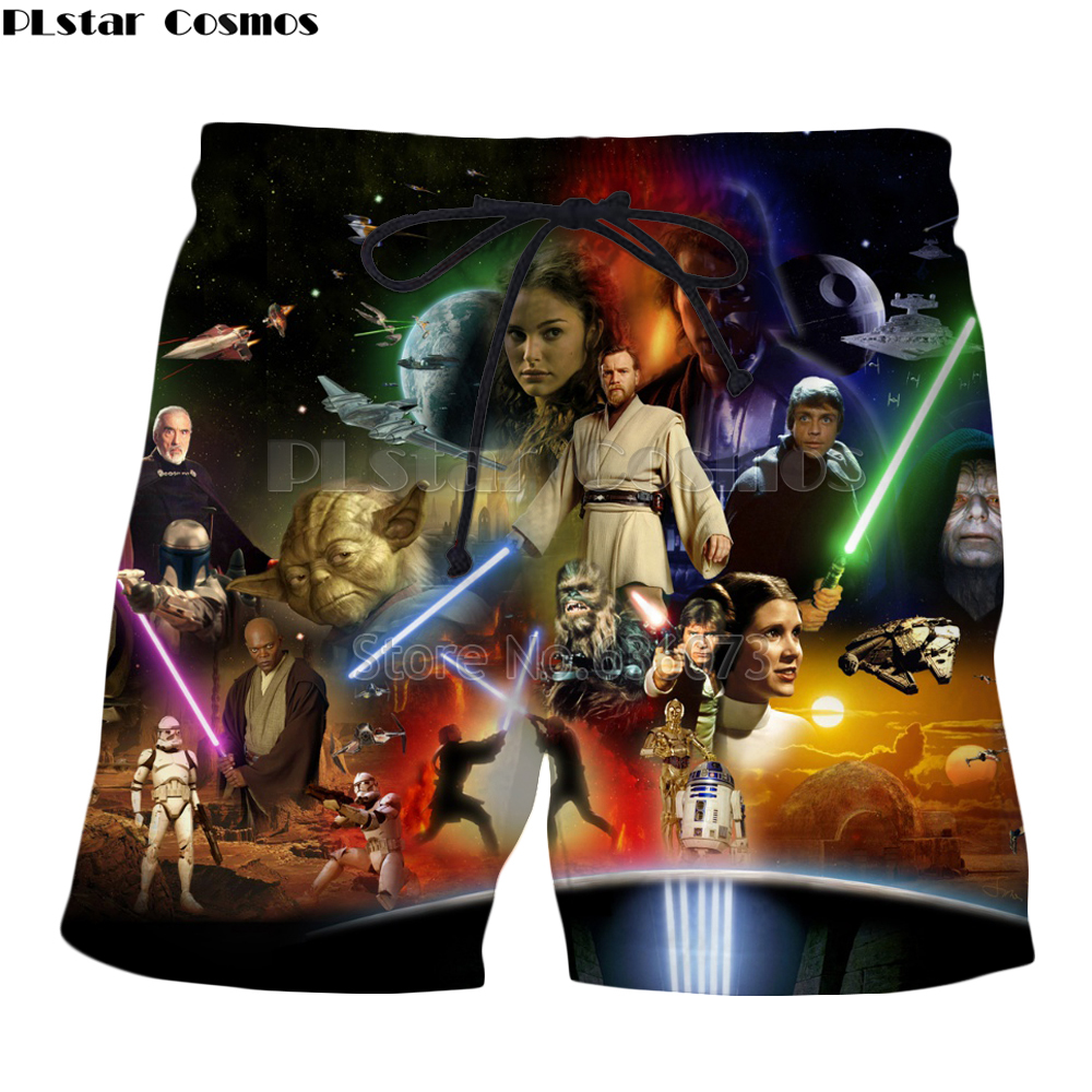 3d Shorts Plstar Summer Casual New-Fashion Cosmos Print Classic Movie Men Women