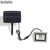 10W Waterproof Solar Panel LED Lamp Warm White White LED Floodlight Garden Parking Lamp LED Wall
