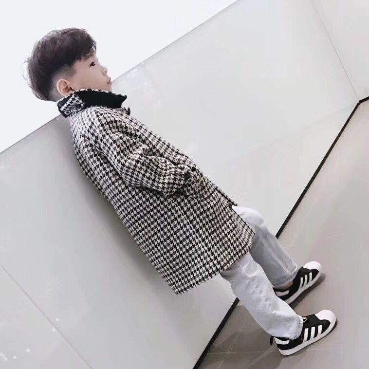 цена на kid woolen overcoat new fashion clothes for kid boys Teens autumn winter long coat warm outerwear in end Nov
